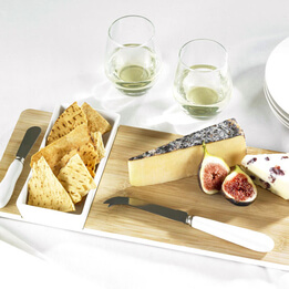 Bamboo Cheese & Dip Set