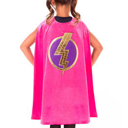 Girls Pink Hero Cape
