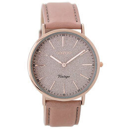 OOZOO Blushing Rose Glitter Watch