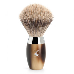 MHLE Badger Brush with Horn Handle
