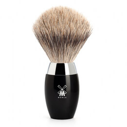 MHLE Badger Brush, Black Handle