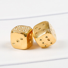 Luxury Gold-Plated Playing Dice
