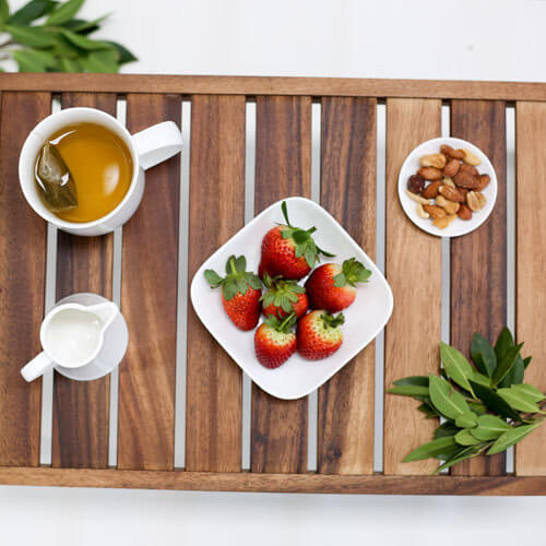 Acacia Wood Breakfast Tray