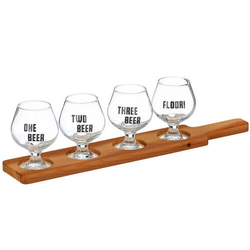 Beer Connoisseur Tasting Paddle 5pce Set