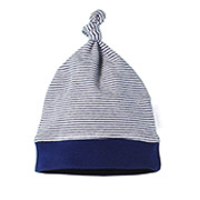 Pure Baby Organic Cotton Knot Hat Navy Stripe