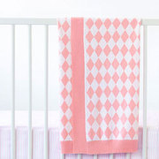 Marquise Bassinet Knitted Blanket in Pink