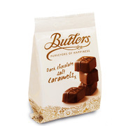 Butlers Dark Chocolate Salt Caramels Bag 125g
