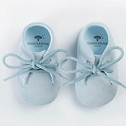 Personalised Blue Suede Baby Shoes