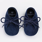 Personalised Navy Suede Baby Shoes