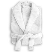 Retreats White Microplush Robe
